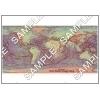 世界赤色立体地図