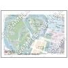 この地図は私的利用のみに許諾しております。「 現代 5-8 」 A4サイズ