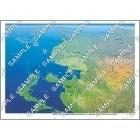 パノラマ鳥瞰図 東アジア